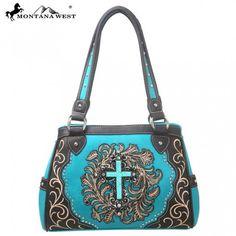 Montana West Spiritual Collection Floral Tooling Handbag