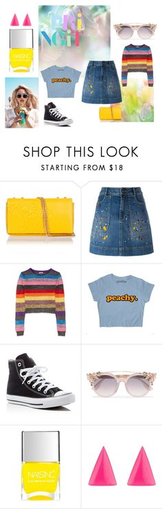 """spring"" by ellahallyounger97 on Polyvore featuring Wildfox, Braccialini, Alice + Olivia, Miu Miu, Converse, Jimmy Choo, Nails Inc. and Alexis Bittar"