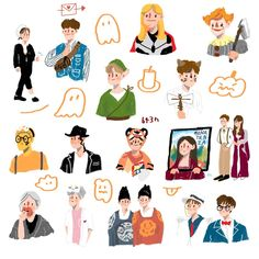Nct, Printable Stickers, Cute Stickers, Character Art, Character Design, Cute Doodles, Kpop Fanart, Soyeon, Studyblr