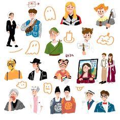 งานจ้ะ Nct, Printable Stickers, Cute Stickers, Character Art, Character Design, Cute Doodles, Kpop Fanart, Studyblr, Sticker Design