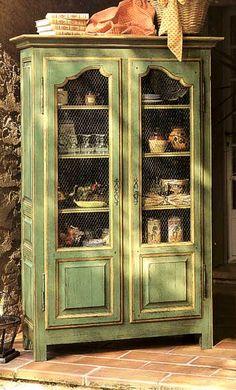 Petite bibliothèque vaisselier LUBERON, PATINES ANCIENNES