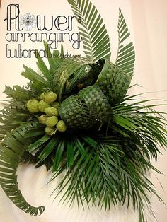 green palm wall decoration 1 | Hungry Bridezilla | Flickr