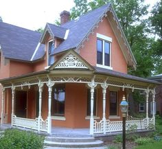 love the porch and woodwork    Repin, Like and Share Thanks