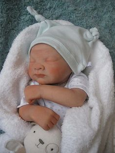 Ooak Polymer Clay Super Sculpey Newborn baby sculpture