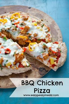 A healthier version of BBQ Chicken Pizza. It has a whole wheat crust and is packed with healthy goodness. I love pizza on Fridays with the kids, but it is so nice to give kids something that is hea...