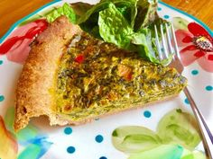 Whole wheat quiche is my lunch for this week. Not your usual lunch, I'd say...LOL :) But a delicious, healthy lunch for sure!