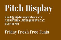 Friday Fresh Free Fonts - Quest, Pitch Display  #share #like #follow