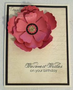 TammieStamps.blogspot.com  Fun Flowers Birthday card. Love the Fun Flowers die, you can do so much with it.