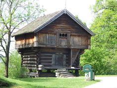 Re-built house in Telemark Museum, Skien, Norway