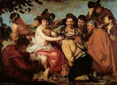 'triumph von bacchus', öl auf leinwand von Diego Velazquez (1599-1660, Spain)