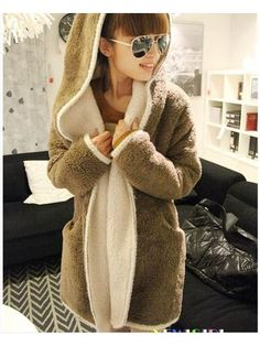 Casual Cotton Purity Trench Coats With Hoodie Fashion NWJ-254447 - TinyDeal