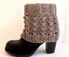 Boot Cuffs Knit Boot Socks Leg Warmers Cable by senoAccessory