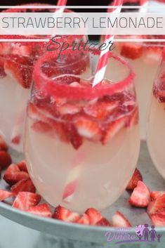 We love this refreshing Strawberry Lemonade Spritzer all the time. It's a homemade, nonalcoholic drink recipe that is perfect for a crowd. Plus it's a really pretty Christmas drink. If you are looking for a holiday beverage - try this festive recipe!