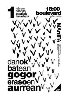 Cartel para manifestación en DONOSTIA día 1 Febrero 2014