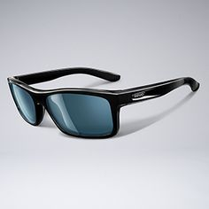 Revo Polarized Square Classic Sunglasses - Black/Blue Water