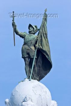 """Vasco Nunez de Balboa (1475-1519) Born in Spain; the Spanish explorer who discovered the Pacific Ocean, 1513; in 1510, settled at Darien; installed as interim governor. Relying on reports from local Indians that another sea lay to the west, and that gold might be found near its southern shores, Balboa led an expedition of 190 Spaniards and 200 Indians on a grueling 25 day march through the jungles of the isthmus. On Sept. 25, 1513, he finally beheld the """"South Sea"""" - the Pacific Ocean."""