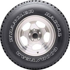 This truck tire for sale from Goodyear offers an aggressive tread design that tackles wet, dry and icy conditions. The large tread blocks on Wrangler tires help ensure handling and control in a variety of conditions while the innovative anti-hydroplane technology sheds water from the tread area. Durable, reinforced rubber compounds ensure Wrangler tires resist damages from common sources. 4.7 out of 5 stars on Amazon.