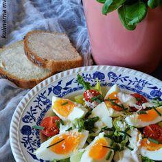 Chleb na kefirze pieczony w garnku Avocado Toast, Cobb Salad, Tacos, Eggs, Breakfast, Ethnic Recipes, Food, Morning Coffee, Meal