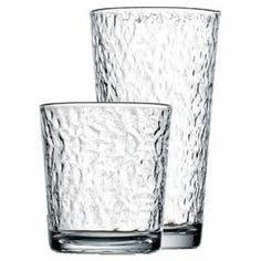 Highball glass and double old fashioned glass.   Product: 8 Double old fashioned glasses and 8 highball glassesConstruction Material: GlassColor: ClearFeatures:  13 Ounce double old fashioned capacity17 Ounce highball capacity