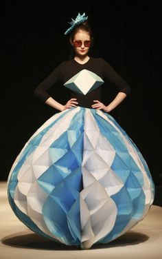 A model presents a creation by a Kyrgyz young designer during the Fashion Week in Bishkek April 4, 2012.