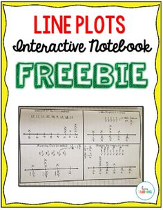 (FREE) Line Plots Interactive Notes - Covers Fifth Grade Common Core Standard…