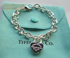 tiffany bracelet | Return_to_Tiffany_Heart_lock_charm_bracelet_New
