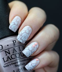 Wastinglifestyle Nail Nails Nailart White Lace Art Graduation