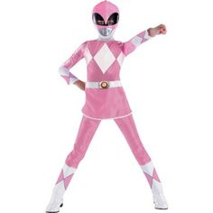 Power Rangers Pink Ranger Deluxe Child Costume Description: She may be petite, but this pink ranger packs a powerful punch! Become one of the Power Rangers with this Pink Ranger Pink Costume, Costume Shop, Power Ranger Disfraz, Halloween Costumes For Girls, Halloween Ideas, Family Costumes, Halloween 2016, Halloween Season, Family Halloween