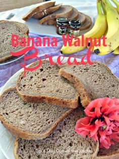 Banana Walnut Bread for the Bread Machine - fantastic #homemade #bananabread recipe that's light and fluffy since it's a yeast #bread. Not as sweet or dense as a typical #banana bread. #breakfast #breadmaker via Can't Stay Out of the Kitchen