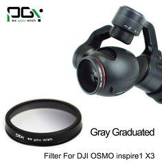 >> Click to Buy << PGY DJI OSMO inspire1 X3 Gimbal Camera Gray Gradual color graduated filter Lens Gimbal Camera accessories UAV drone accessories #Affiliate