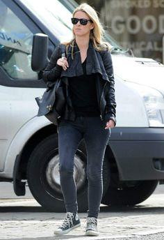 Nicky Hilton wearing Converse Chuck Taylor All Star Canvas High Top Sneakers in Black Proenza Schouler PS Backpack