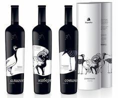 Wine bottle design-Love the CONTRAST!