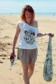 Jupe légère et tshirt pour profiter des balades sur la plage... (Kanabeach) | Finistère Bretagne #myfinistere