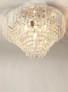 Chrome paladina crystal flush ceiling lights lighting bhs paladina large flush lighting sale home lighting aloadofball Images