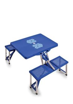 Picnic Time Blue North Carolina Tar Heels Portable Picnic Table