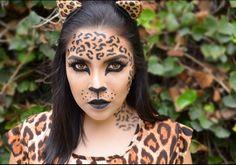 Leopard makeup, halloween makeup, jaguar makeup, maquillaje leopardo
