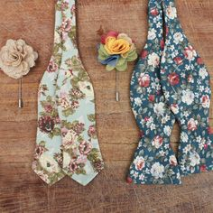 Floral bowties from the Sum 14 collection #bowtie #floral. Visit http://grandfrank.com for more information!