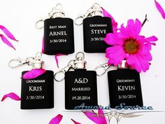Groomsman Flask Key Chain With Free Engraving  1 by AwardSourceLLC, $6.89