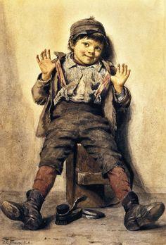 Perfectly Happy (John George Brown - 1885)