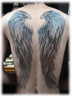 *wing tattoos*  i like the way the center almost shapes a heart...could probably do this with other shapes/symbols...