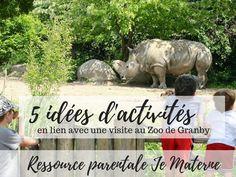 Activités en famille: 5 idées d'activités en lien avec une visite au Zoo de Granby, Ressource parentale Je Materne