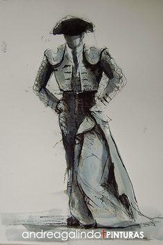 Andrea Galindo. Pintura: TINTAS TAURINAS IV