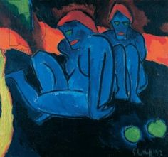 In the Twilight, 1912 (oil on canvas), Karl Schmidt-Rottluff