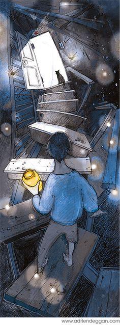 Illustration Work (children's books) by Adrien Deggan, via Behance