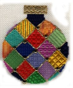Join the Napa Needlepoint mailing list and get a free stitch guide for a Jody Designs ornament by needlepoint expert Janet M Perry Cross Stitch Christmas Ornaments, Christmas Cross, Xmas, Needlepoint Stitches, Needlework, Bargello Patterns, Cross Stitching, Hand Embroidery, Cross Stitch Patterns