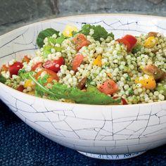 Israeli Couscous and Tomato Salad with Arugula Pesto | Food & Wine