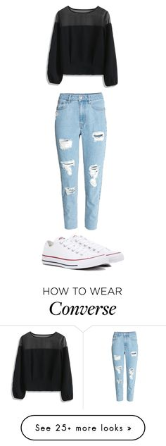 """Untitled #11864"" by aavagian on Polyvore featuring Chicwish and Converse"