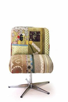 I would like to do something similar to my office chair. Like the patchwork look.