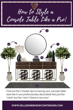Learn how to style your console table like a pro with these tips and tricks! Learn how to style your console table like a pro with these tips and tricks! Home Living, Living Room Modern, Living Room Decor, Living Area, Dining Room, Hallway Decorating, Entryway Decor, Decorating Tips, Hallway Table Decor