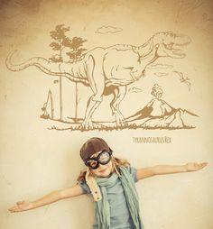 Unsere Wandtattoos Sind 100% Rauhfaser Tauglich Urzeit Magie Pur, Mit  Diesem Wandtattoo Dinosaurier Und
